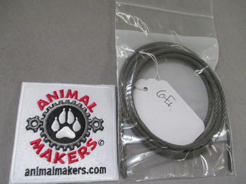 """1/8"""" steel cable- 6 ft. length"""