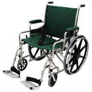 "Bariatric Wheelchair w/ Detachable Footrest (22"", green)"