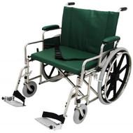 "Bariatric Wheelchair w/ Detachable Footrest (24"", green)"