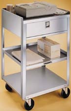 Stainless Steel Utility Cart & Drawer (400lb. capacity)