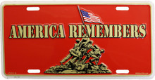 America Remembers License Plate