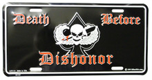 Death before Dishonor License Plate