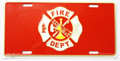 Fire Dept License Plate