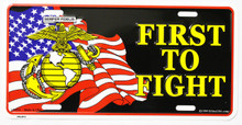Marines First to Fight License Plate