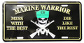 Marine Warrior License Plate