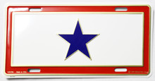 Service Flag License Plate