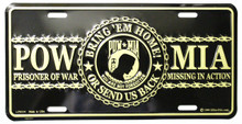 Gold POW MIA License Plate