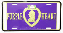 Purple Heart License Plate