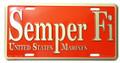 Semper Fi License Plate