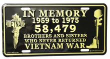 Vietnam Memorial License Plate