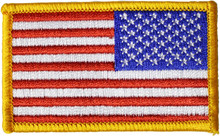 Reversed American Flag Patch