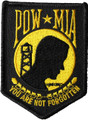Gold POW MIA Patch