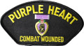 Purple Heart Hat Patch