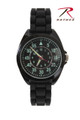 Military Style Watch with Silicone Band