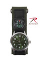 Military Style Watch with Nylon Band and Compass