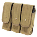 Tan AR/AK Triple Magazine Pouch