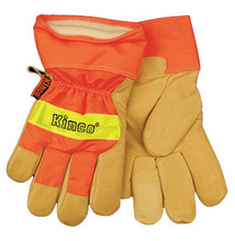Kinco HI-VIS Lined Grain Pigskin Leather Palm