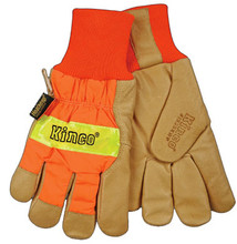 Kinco Safety Orange Pigskin Palm Glove with Waterproof Lining