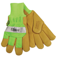 Kinco Safety Green Pigskin Palm Glove with Waterproof Lining