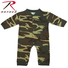 Rothco Infant Camo Long Sleeve and Leg Onesie Woodland