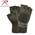 Olive Drab OD Wool Fingerless Gloves Made in the USA
