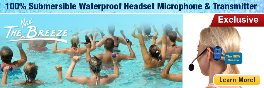 The Breeze Waterproof Headset Microphone & Transmitter