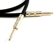 "Microphone/Line Unbalanced 1/4"" - 1/4"" TS Monaural Interconnect Cable - Black or Chrome Plugs  1-PAK"