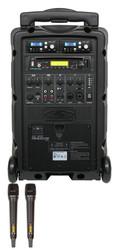 Galaxy Audio GAL08HH2CD TV8 AC/Battery-Powered 120 Watt Portable Sound System - Basic System + CD + 2 Handheld Systems