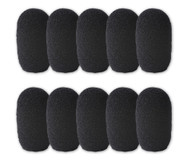 SupremeFit™ Headset Mic BLACK Foam Windscreens - SMALL - 10-PAK