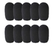 SupremeFit™ Headset Mic BLACK Foam Windscreens - SMALL - 10-PAK
