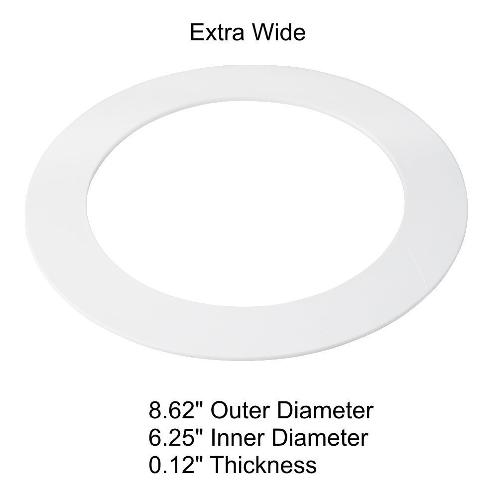 oversized white goof trim ring for 5 6 8 inch recessed can down