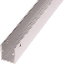 """54"""" x 1"""" Aluminum Continuous U-Bracket (6030EXT)"""