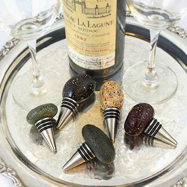 Beach Stone Bottle Stopper