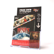 """JESUS"" Film Display with 100 DVDs & 20 Gift Cards"