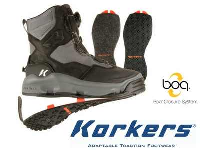 Korkers darkhorse wading boot free fast shipping at for Upcountry fly fishing