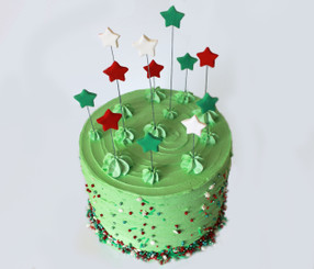 Funfetti Star Christmas Cake