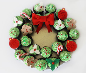 Mini Chocolate Cupcake Wreath