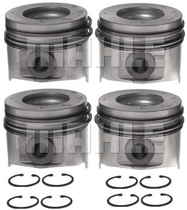 MAHLE .020 OVERSIZED PISTON WITH RINGS **LEFT BANK ONLY***(01-05 DURAMAX LLY/LB7) **SET OF 4**