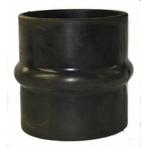 "STAINLESS DIESEL 5.50"" X 6.00"" X 6.00"" LONG RUBBER HUMP REDUCER"