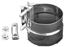 "STAINLESS DIESEL EPFClamp EXHAUST PREFORMED BAND CLAMP 4"" / 5"" (UNIVERSAL)"