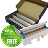 2 x Wrapmaster Foil 30cm x 90m (H9211) & Wrapmaster Dispenser 3000 ((H9207)