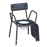 Calder Stackable Commode With Extented Legs