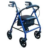 4 Wheel Steel Rollator - Blue