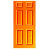 Door Decal - Orange