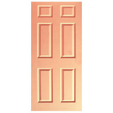 Door Decal - Peach