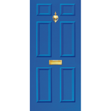NEW RANGE: Door Decal with Letterbox and Knocker - Blue