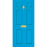 NEW RANGE: Door Decal with Letterbox and Knocker - Light Blue