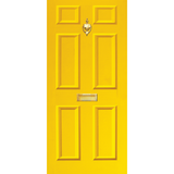 NEW RANGE: Door Decal with Letterbox and Knocker - Yellow