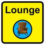 Lounge sign - 300mm x 300mm