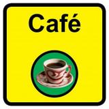 Cafe sign - 300mm x 300mm
